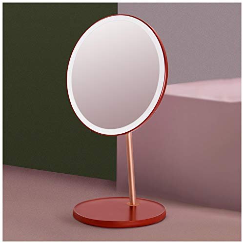 ATRNA Lighted Vanity Makeup Mirror, Portable Rechargeable Dimmable Detachable Countertop Circle Cosmetic -