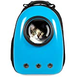 Best Choice Products Traveler Bubble Window Backpack Pet Carrier for Cats and Dogs - Blue