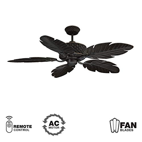 52 Ellington Blade - Craftmade PAP52ABZ5RCDI Ceiling Fan with Blades Included, 52