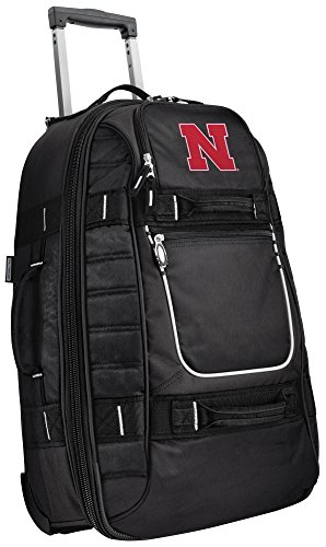 Small University of Nebraska Carry-On Bag Wheeled Suitcase Luggage Bags by Broad Bay