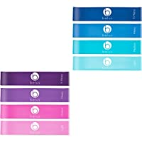 Belus Resistance Bands with Carry Bag, Video Download and eBook. Set of Four Loop Bands for Exercise, Rehabilitation and Fitness from Belus