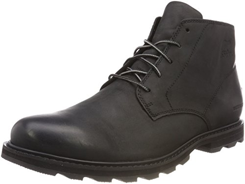 (SOREL - Men's Madson Chukka Waterproof Boots, Leather, Black, 9 M US)