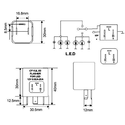 amazon com ijdmtoy 1 3 pin cf14 ep35 electronic led flasher relay rh amazon com