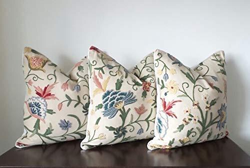 Cotton Pillow Crewel - 20