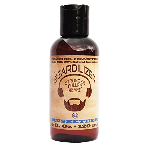 Beardilizer ® Beard Oil Collection - #1 Musketeer 4 Oz - Made with 100% Natural Ingredients