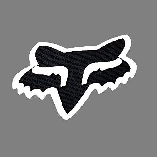 Fox Racing Black White Fox Head Trailer Hitch Cover RZR CAN AM YXZ DIRTBIKE ATV #16124-018-NS by Fox Racing
