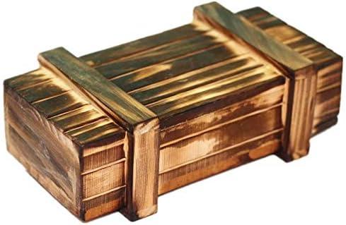 Caja mágica de madera con cajón secreto seguro adicional: Amazon ...