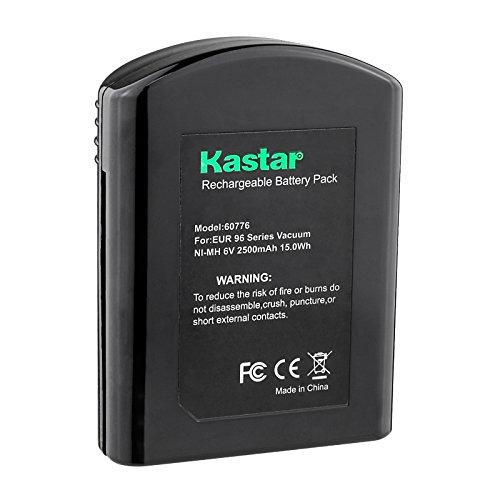- Kastar EK60776 Battery (1 Pack), Ni-MH 6V 2500mAh, Replacement for Eureka60776 60776 68112 39150 25-0010-02 Eureka 96A 96A-1 96B 96D 96DZ 96DZ-1 96F 96F-1 Eureka Quick Up 2-in-1 Cordless 96H 96JZ 97A