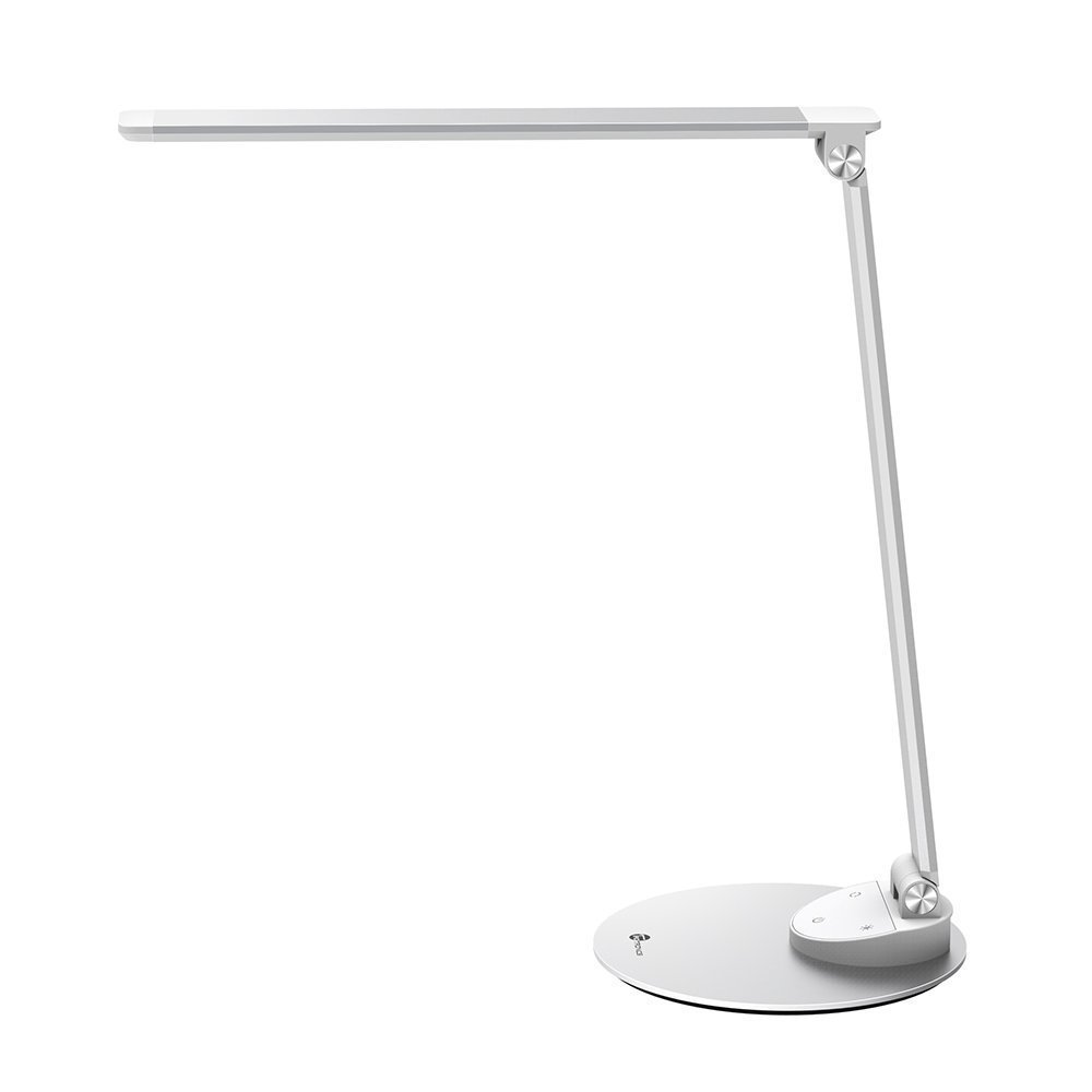 TaoTronics LED Desk Lamp with USB Charging Port, Eye- care Dimmable Lamp, 5 Color Temperatures with 5 Brightness Levels, Touch Control, Metal, Official Member of Philips EnabLED Licensing Program