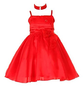 Amazon Com Red Christmas Dress Baby And Toddler 3m To 4t Infant