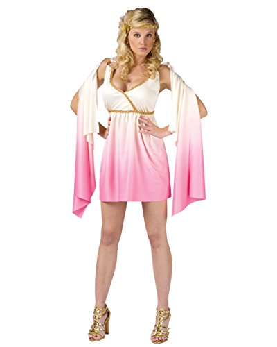 Sexy White Pink Venus Costume Grecian Goddress Mythology Athena Aphrodite Sizes: Small-Medium