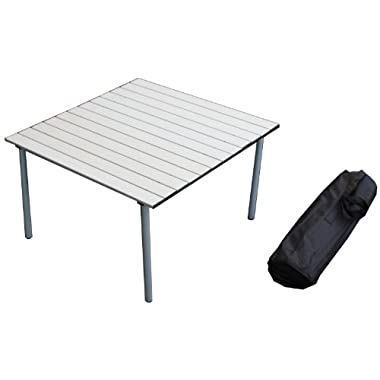 Table in a Bag A2716GA Low Aluminum Portable Table With Carrying Bag, Gray