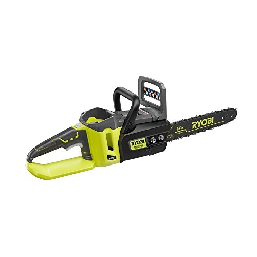 Ryobi 14 Inch 40-Volt Brushless Chainsaw Without Battery and
