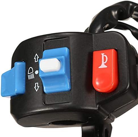 JPLJJ オートバイSingalスイッチ電動モーター左右ドラムブレーキヘッドライトハンドルバーボタンスイッチ