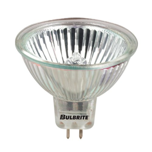 Bulbrite 639020 BAB/10M 20-Watt Dimmable 10,000 Hour Halogen Lensed MR16, GU5.3 Base, Clear (Pack of 6)