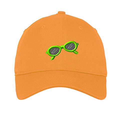 Sunglasses Beauty Beach Embroidery Unisex Adult Flat Solid Buckle Cotton 6 Panel Low Profile Hat Cap - Golden Yellow, One - To Sunglasses Remember Day A