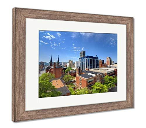 (Ashley Framed Prints Downtown Birmingham, Alabama, Wall Art Home Decoration, Color, 26x30 (Frame Size), Rustic Barn Wood Frame, AG32675360)