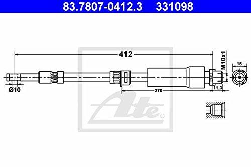 ATE 83.7807-0412.3 Bremsschlauch