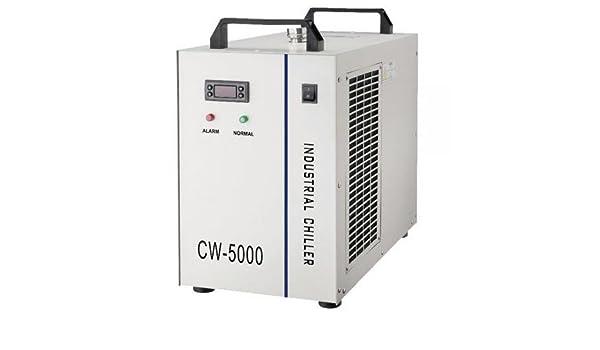 cw-5000bg Industrial agua enfriador para Single 80 W/100 W CO2 láser Tubo de refrigeración, 0.52hp, 1P AC 220 V, 60 Hz, 800 W, Capacidad de enfriamiento, ...