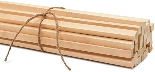 Square Dowel Rods 1//2 x 12-25 Unfinished Wooden Square Dowel Rods By Woodpeckers