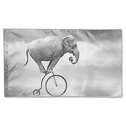 Elephant Ride Bike Home Garden Flag New Year House Decor 3x5ft Polyester by YS25