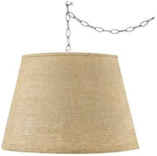 Upgradelights 19 Inch Burlap Swag Hanging Light Fixture
