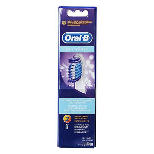 Braun Oral-B SR32-2 Pulsonic Replacement Toothbrush Heads 1Pack