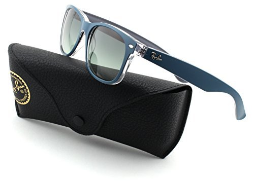 Ray-Ban RB2132 New Wayfarer Matte Petroleum on Grey Frame/Grey Gradient Lens 619171, - Wayfarer Ban On Ray Men