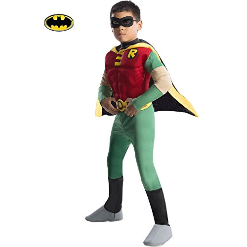 Rubies DC Comics Teen Titans Deluxe Muscle Chest Robin Costume