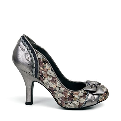 Ruby Shoo Women's Amy Court Shoe Pumps & Free Belle Divino Sole Protector Pewter 3QejnzpEv