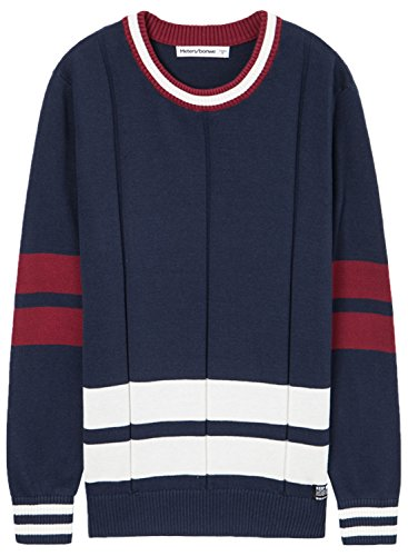 meters-bonwe-mens-fashion-color-block-round-neck-pullover-knitted-sweater-deep-blue-m