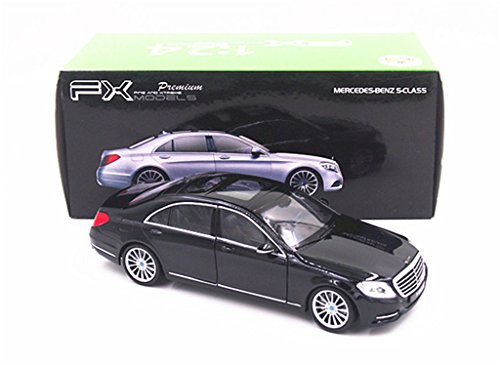 Welly 1:24 Mercedes Benz S-Class S600 Diecast Model Car Black New in Box