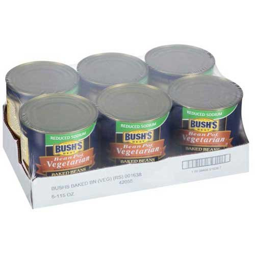 Bushs Best Bean Pot Vegetarian Baked Beans, 115 Ounce - 6 per case.