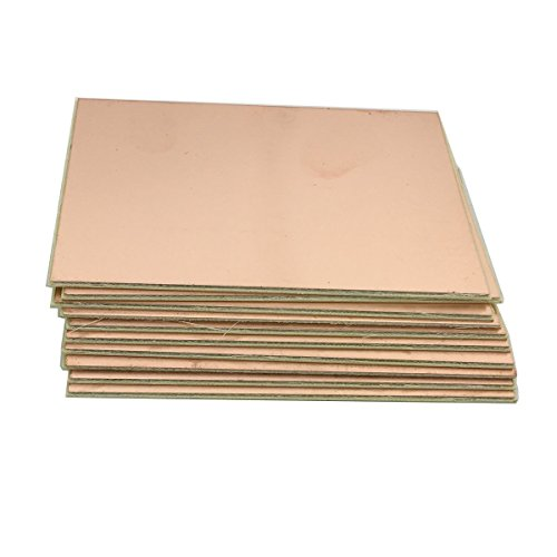 McIgIcM copper clad pcb,10pcs fr-4 board pcb single side copper clad plate diy pcb kit laminate circuit board 100x70mm