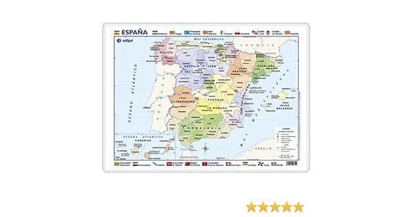 España, político / físico: Mapas de Escritorio (): Amazon.es: Edigol Ediciones: Libros