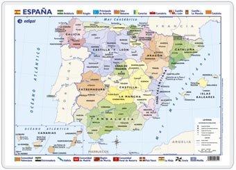 España, político / físico: Mapas de Escritorio (): Amazon.es ...
