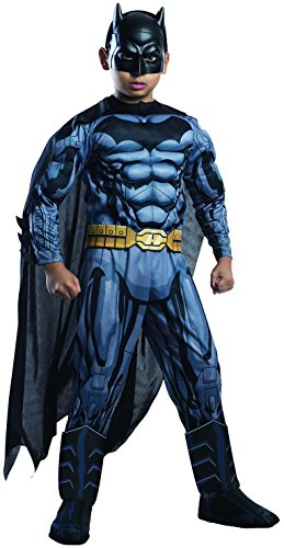 Rubie's Costume DC Superheroes Batman Child Deluxe Costume, (Batman Costume For 12 Year Old)