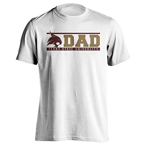 (Sport Your Gear Texas State Bobcats Dad Proud Parent T-Shirt (White, XL))