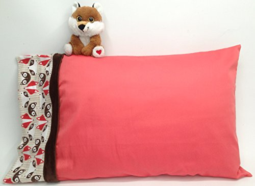 fox-print-soft-cotton-pillowcase-kids-bundle-includes-cuddly-fox-toy-and-one-handmade-standard-size-