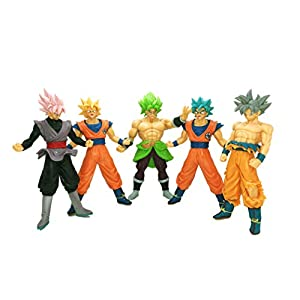 41BQSwidE1L. SS300  - Playforever Dragon Ball Z Super 7'' Figure-Rise Standard Action Set of 5 Toys: Son Goku Super Saiyan|God Goku|Ultra…