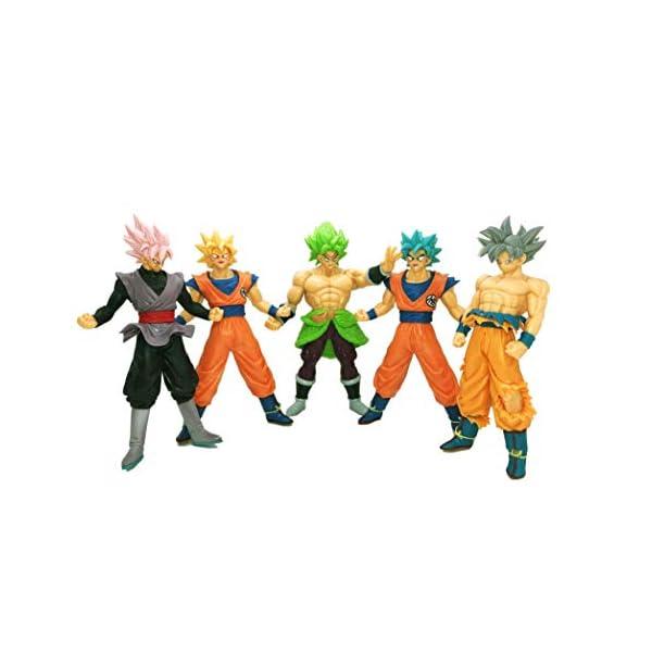 41BQSwidE1L. SS600  - Playforever Dragon Ball Z Super 7'' Figure-Rise Standard Action Set of 5 Toys: Son Goku Super Saiyan|God Goku|Ultra…