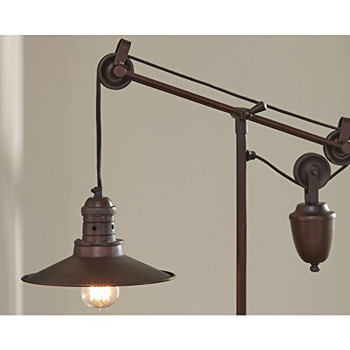 Ashley Furniture Signature Design - Kylen Desk Lamp with Metal Shade with in-Line Switch - Industrial - Bronze Finish by Signature Design by Ashley (Image #6)