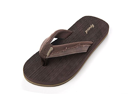 Just Speed Flip-Flops Sandals Eagle Cool Soft Slide On Summer Comfortable Light Casual Travel Vacation Sand Pool Indoors (4, Brown) (4 Speed Slide)