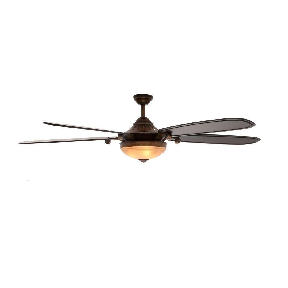 Amaretto 70 in. LED French Beige Ceiling Fan