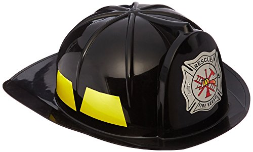 Helmet Child Firefighter Black - Black Fireman Child Hat