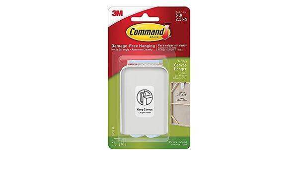 Amazon.com: Command Jumbo Canvas Hanger B95756, 4-Hook, 16 ...