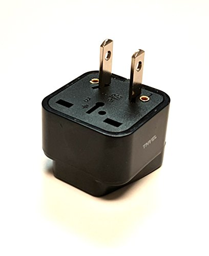 Usa Power Plug - Tmvel Universal International Power Adapter Plug Tip Converter - Convert Europe, EU/UK/CN/AU To USA - Great for Cell Phone Charger - Not Converter