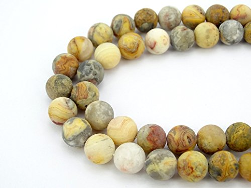 Crazy Lace Agate Round Beads - 8