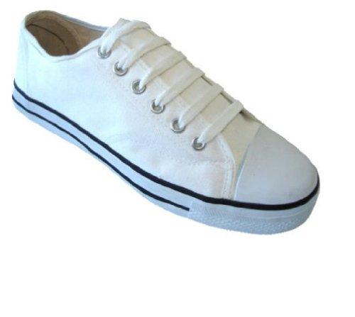 Zapatillas De Deporte Clásicas De Lona Para Hombre Con Cordones 4 Colores Disponibles Blanco 327m