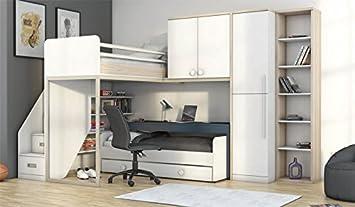 hochbett mit schreibtisch 2 m belideen. Black Bedroom Furniture Sets. Home Design Ideas